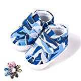 Morbuy Baby First Walking Canvas Shoes Camouflage Newborn Infant Boy & Gril Soft Anti-Slip Cute Sneaker Sole Keep Warm Crib (11cm / 0-6 Month, Blue Camouflage)