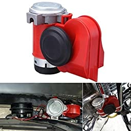 XINDELL Electric Pump Air Horn, 12v Siren Loud Sound, Dual Tone, Compact Snail, for Car Truck Bike