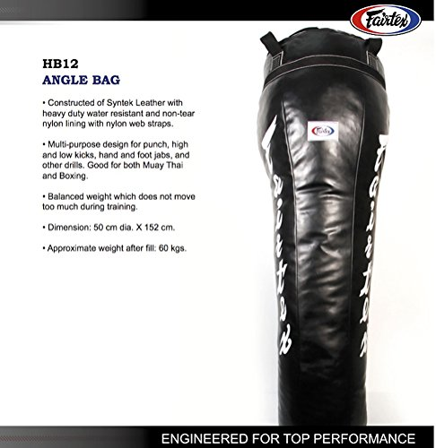 Fairtex HB12 Angle Heavy Bag  (Black)