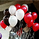 Sopeace 10 Inch White And Black And Red Latex Balloons for Party Balloons Decoration 100 Pcs/pack for Party Decoration and Accessories