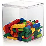 """Containables 4-7/8"""" x 4-7/8"""" x 5-1/2"""" Plastic Container with Removable Lid - set of 4"""
