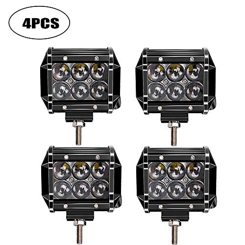 """TURBOSII 4Pcs 18W 4"""" 4D Cube Pods Led Work Light Spot, used for sale  Delivered anywhere in Canada"""
