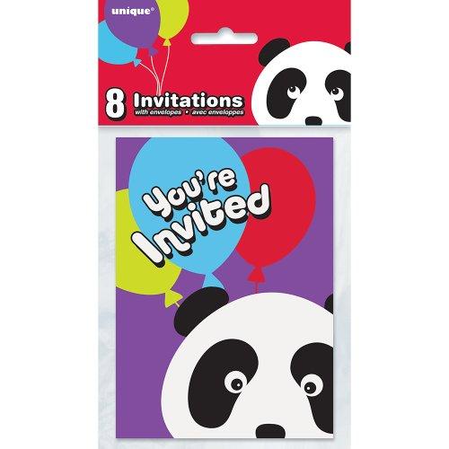 Panda Birthday Invitations, (Halloween Birthday Invitation Ideas)