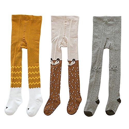 DmsBanga 3 Pcs Cute Kids Baby Girls Boys Tights Cartoon Legging Pant Warm Socks