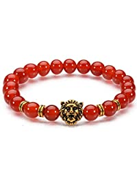 Antiquity Sian Art Tiger Eye and Agate Multicoloured Beads Stretch Charm Bracelet Jewelry Flexible Free Zoom