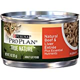 Purina Pro Plan Wet Cat Food, Tue Nature, Natural Beef & Liver Entrée, 3-Ounce Can, Pack of 24