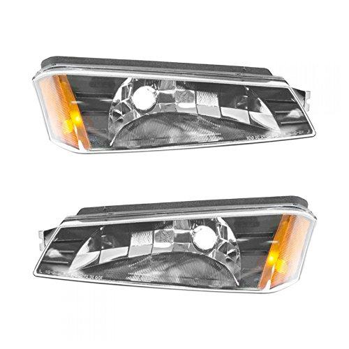 Corner Marker Parking Light Pair Set LH & RH for Chevy Avalanche Pickup Truck ()