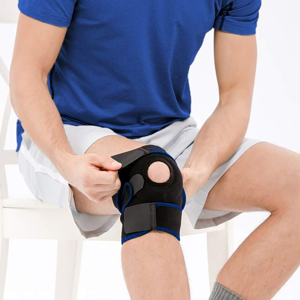 Knee Brace Support Sleeve Therapy Wrap Adjustable Patella Tendon Stabilizer for Meniscus Tear, Bursitis, Runners, Arthritis, Jumpers, ACL, MCL, Joint Injuries, Ligament Sprains, Swelling, & All Sports by Rocky Mountain Athletic (Image #7)