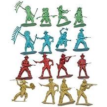 Indians Cowboys Western Figures Plastic Toys (110 piece)