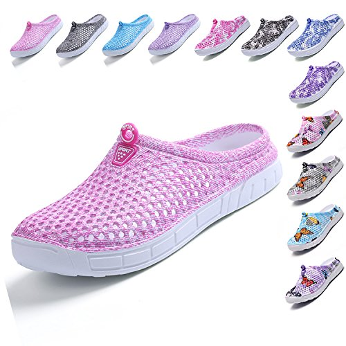 (LIGHFOOT Garden Clog Shoes Beach Footwear Water bash Womens Summer Slippers Pink 41)