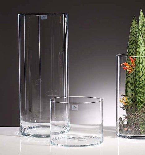 Glasvase Vase Glas Blumenvase Bodenvase Zylinder 60 Cm Amazon De
