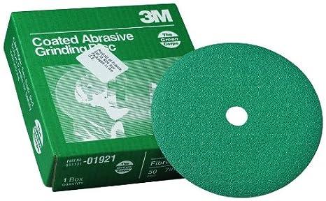 3M 01921 Green Corps 7' x 7/8' 50 Grit Fiber Disc