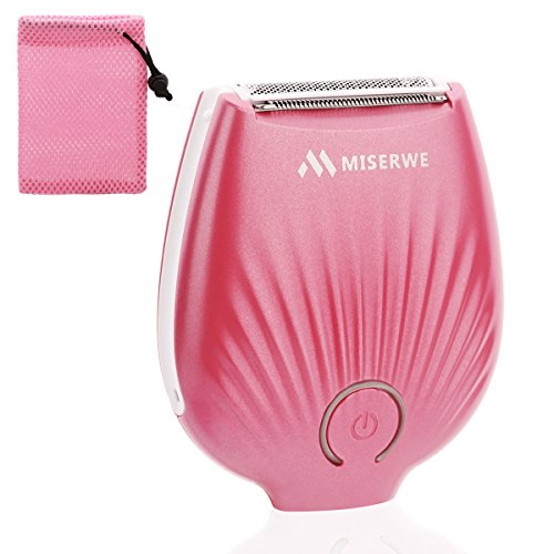 Miserwe Womens Electric Razor with Carrying Bag Mini IPX4 Waterproof Electric Razor for Women Rechargeable Professional Bikini Trimmer for Arm Underarm Bikini Line and Legs (Electric Razor For Women)