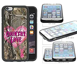 "Camo Tree Pink Heart & Deer Head Country Love iPhone 6 (4.7"") Rubber Silicone TPU Cell Phone Case"