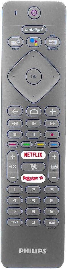 Mando a Distancia por Voz Original de Philips para 58PUS7304 55PUS7504 55PUS7354 55PUS7304 Televisores LED Android Ambilight: Amazon.es: Electrónica