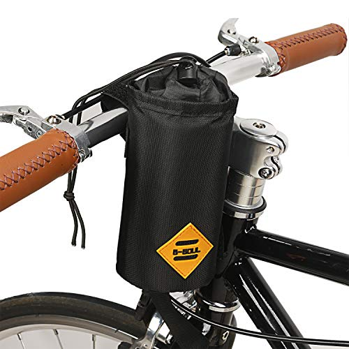 JUNPENG Bike Water Bottle Holder Insulated Stem Bag Frame & Handlebar Attachment Cup Holder Bicycle Water Bottle Drink Holder | Food Snack Storage for - Water Handlebar Bottle