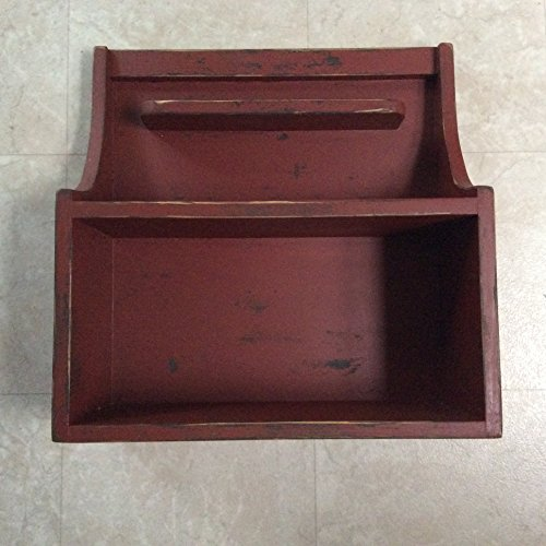 Distressed Dark Red Amish Style Large Hanging Cupboard 20
