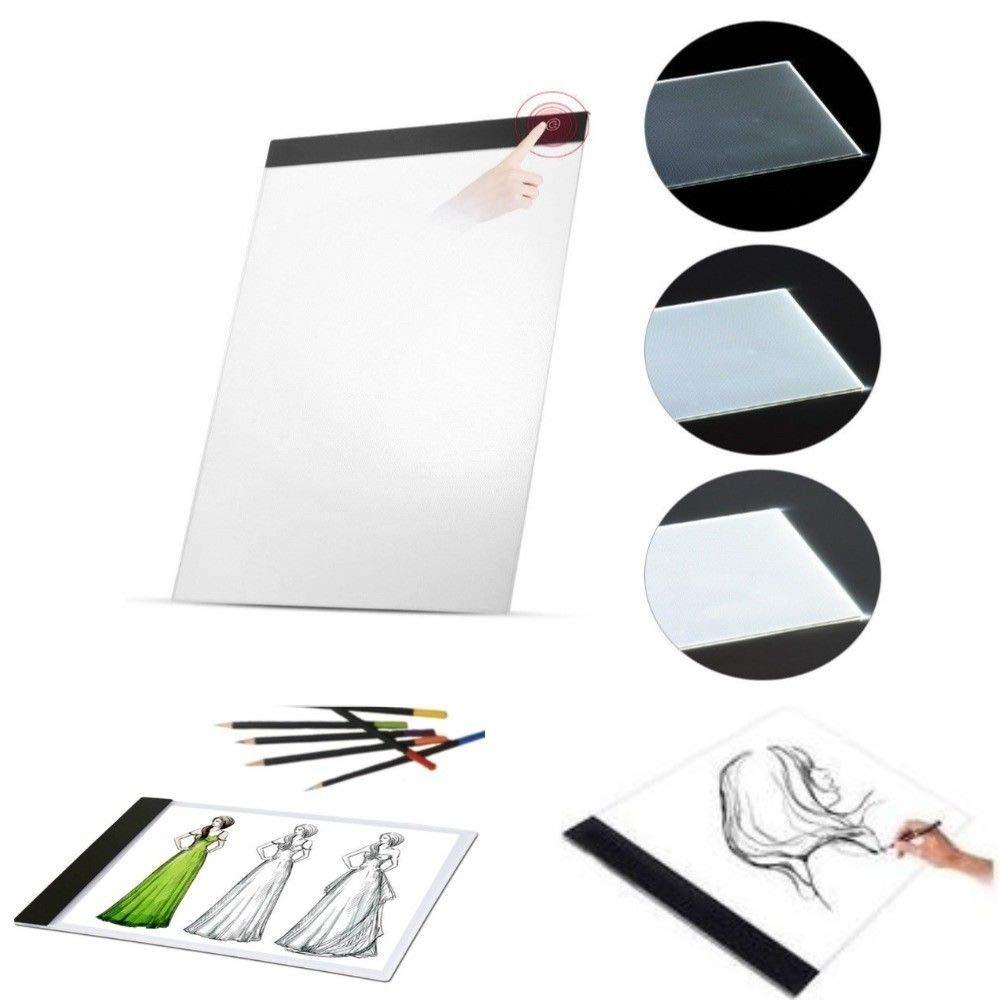 LGVSHOPPING Tavola Luminosa da Disegno Ricalco Foglio A4 Lavagna Luminosa con LED e USB