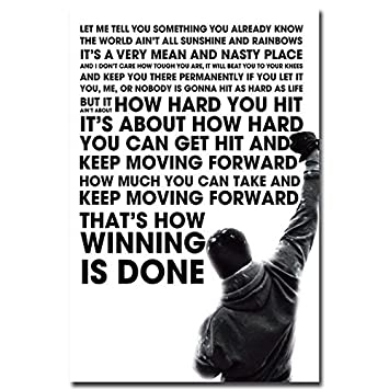 Amazon Com Sava 74423 Rocky Balboa Motivational Quote Wall