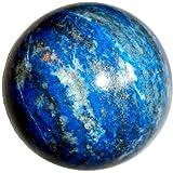 "3.0"" Lapis Ball 02 Lazuli Sphere Vital Blue Third Eye Spiritual Healing Crystal Energy"