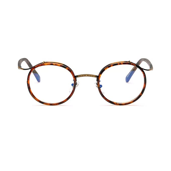 e3a8783d0f9b MINCL Men Women Designer TR90 Retro Round Metal Frame Light Eyeglasses Frame  -yhl (