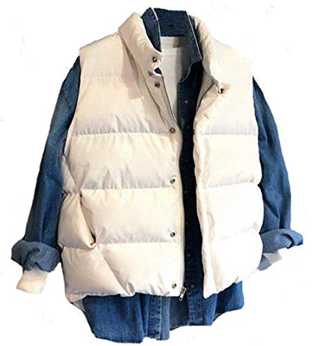 ハック友情投資するMengFan ダウンベスト レディース 秋冬 ショート丈 ダウンジャケット 袖なし 無地 防寒 チョッキ 着痩せ 暖かい 柔らかい 軽量 トップス 韓国 ファッション 学生 カップル
