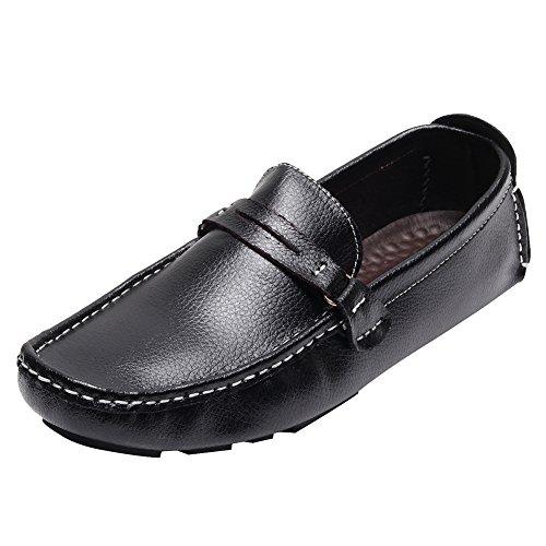 Hombre rismart Ponerse Negro Conducción Mocasines Zapatos Comodidad Coche 6ggHwzOq