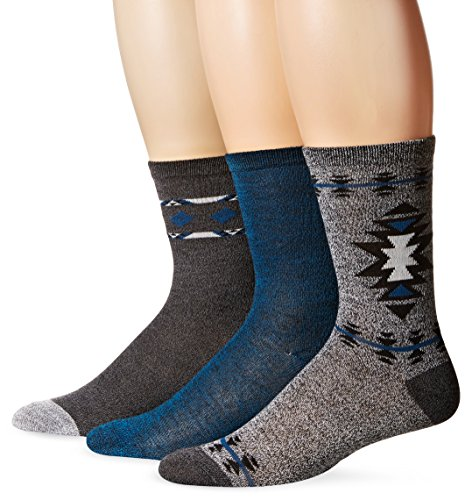 [Steve Madden Women's Marled Stripe Crew Socks 3-Pack, Multi, 9-11] (Steve Stripe)