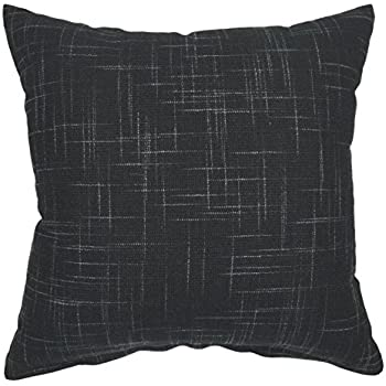 your smile solid black square cotton linen decorative throw pillow case cushion cover pillowcase for sofa