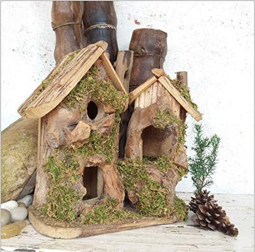 mzq Handgefertigte Holzvogelnest Zuchtbox im Freien Sperlingsvogelhaus Holzvogelhaus Gartenvogelnestkaste