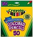Crayola 50ct Long Colored Pencils