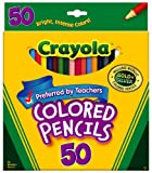 Crayola 50 ct Long Colored Pencils (68-4050) case of 12 Sets