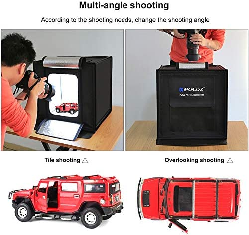 Photo Studio 40CM Folding Studio LED Highlighting Professional Photo Softbox Send 6 Color Background Cloth