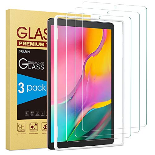 [3 Pack] SPARIN Screen Protector Compatible with Galaxy Tab A 10.1 2019 9H Hardness Tempered Glass Easy Installation…