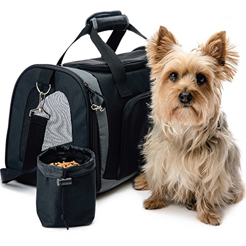 Dog Carrier Handbags - The Original GORILLA GRIP Pet Purse Carrier Bag for Dogs or Cats, Free Travel Bowl, Locking Safety Zippers, Airline Approved, Up to 15lbs, Sherpa Insert, Perfect for Airplane, Train, and Car Travel