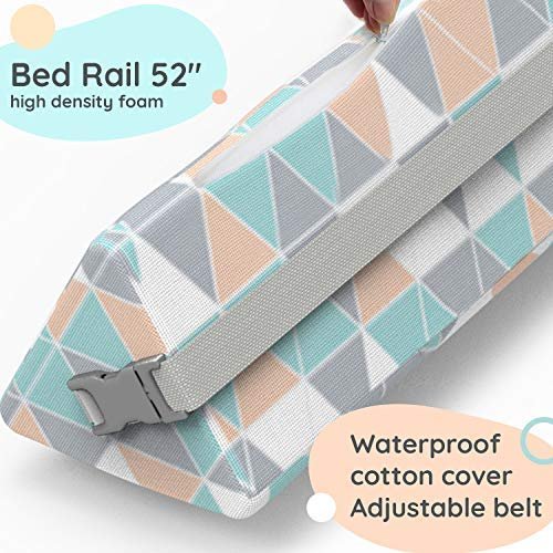 Bed Rails for Toddlers - Toddler Bed Rail Keep Them Safe at Night from Falling Out of Bed - Includes Clip to Hold in Place! by Dellabella