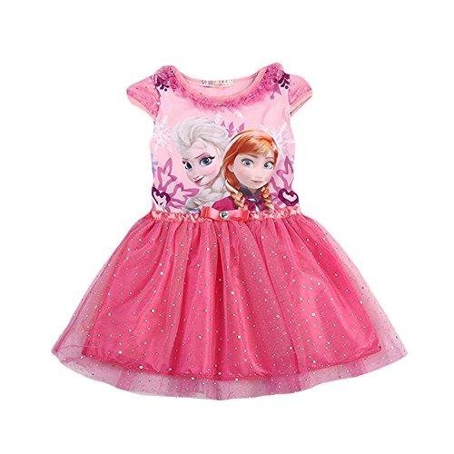 Semi Classical Costume (MIQI Girls Princess Elsa Dress up Costume Cap Sleeves Glitter Dresses)