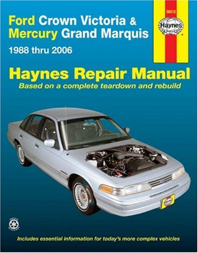 Ford Crown Victoria & Mercury Grand Marquis Automotive Repair Manual, 1988 thru (Mercury Marquis Owners Manual)