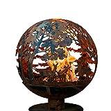 Esschert Design FF1011 Wildlife Fire Sphere, Rust Metal Finish - Large