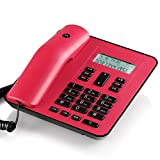 NYDZDM Wired Fixed Telephone Business Telephone Home Office Telephone, You Can Connect Extension, Caller ID - Red (Color : Red)