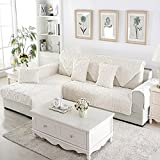 Plush Sofa Furniture Protector for pet Dog All Season Sectional Sofa Throw Cover pad Anti-Slip Slipcover u Shape L Shape Couch Cover-1 Piece-D pillowcase18x18inch(45x45cm)