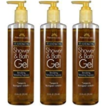 Lot of 3 Personal Care Rejuvenating Shower & Bath Gel Compare to Neutrogenia Rainbath 8.5 fl oz each Pump Nozzle