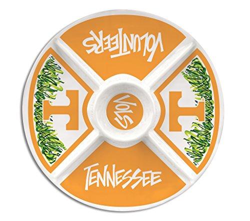 University of Tennessee Melamine Divided Veggie Platter