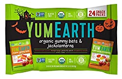 Yumearth Hallween Limited Edition Organic Gummy Candy Pack (Gummy Bats & Jackolanterns 12oz)