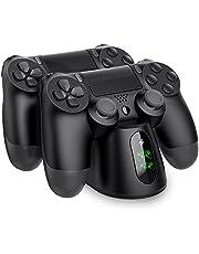 BEBONCOOL PS4 Controller Ladestation, Dualshock 4 Ladestation Ladegerät Ständer mit LED Anzeige & Micro USB Kabel Zubehörset für Sony Playstation 4 / PS4 Slim / PS4 Pro Wireless Controller