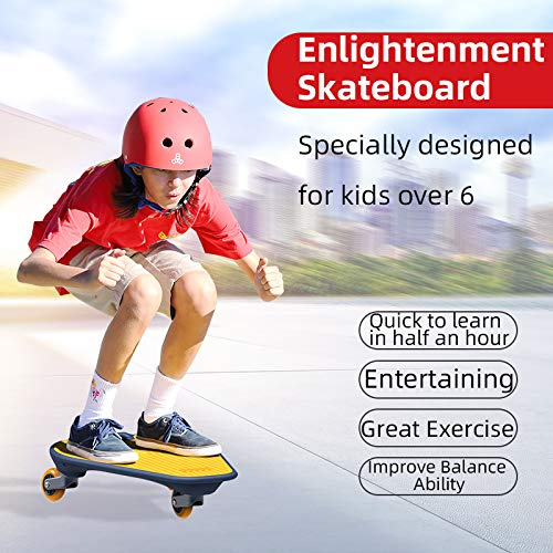 180° IDbabi-Wiggle Skateboard Complete 22 Inchs for Kids Boy Youths Beginners with LED Wheels– Certificate of The Red Dot Design Award 2020