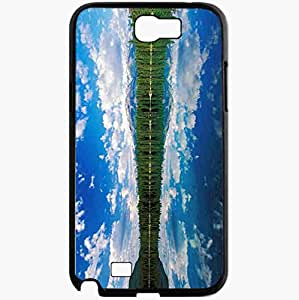 Unique Design Fashion Protective Back Cover For Samsung Galaxy Note 2 Case Beautiful Lake Wallpaper Beautiful Black