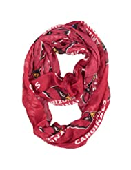NFL Arizona Cardinals Sheer Infinity Scarf, One Size, Red