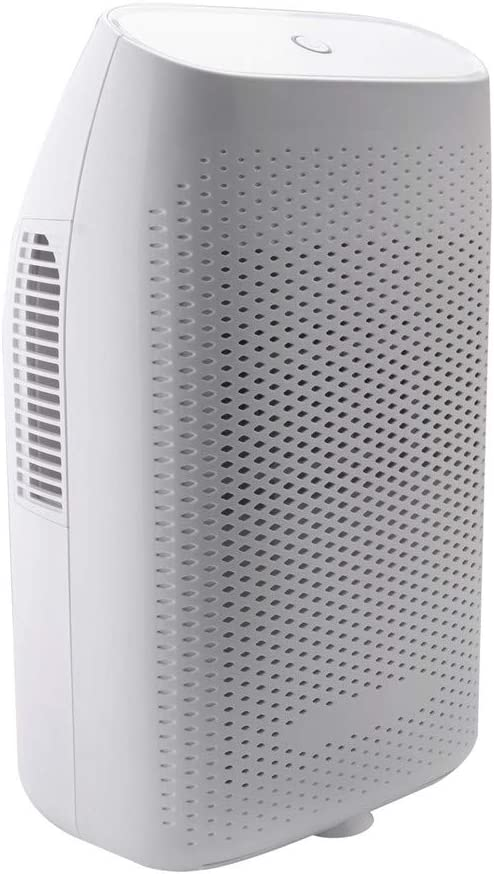 Electric Mini Home Dehumidifier for Bedroom with Effortless Humidity Control,Auto Shutoff Ultra Quiet,2200 Cubic Feet, Compact and Portable for Kitchen, Bedroom, Caravan,Bathroom White