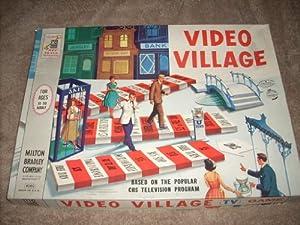 vintage 1960 video village tv board game based on the popular cbs television. Black Bedroom Furniture Sets. Home Design Ideas